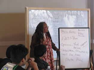 Alice Lovelace - Poet, Educator.  Leads writing workshop at C.U.L.T.U.R.E.